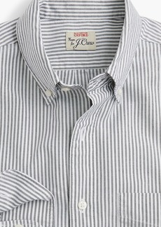J.Crew Slim American Pima cotton oxford shirt with mechanical stretch in stripe