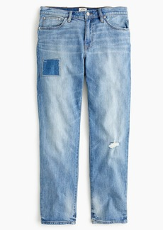 J.Crew Slim boyfriend jean with patch and distressing