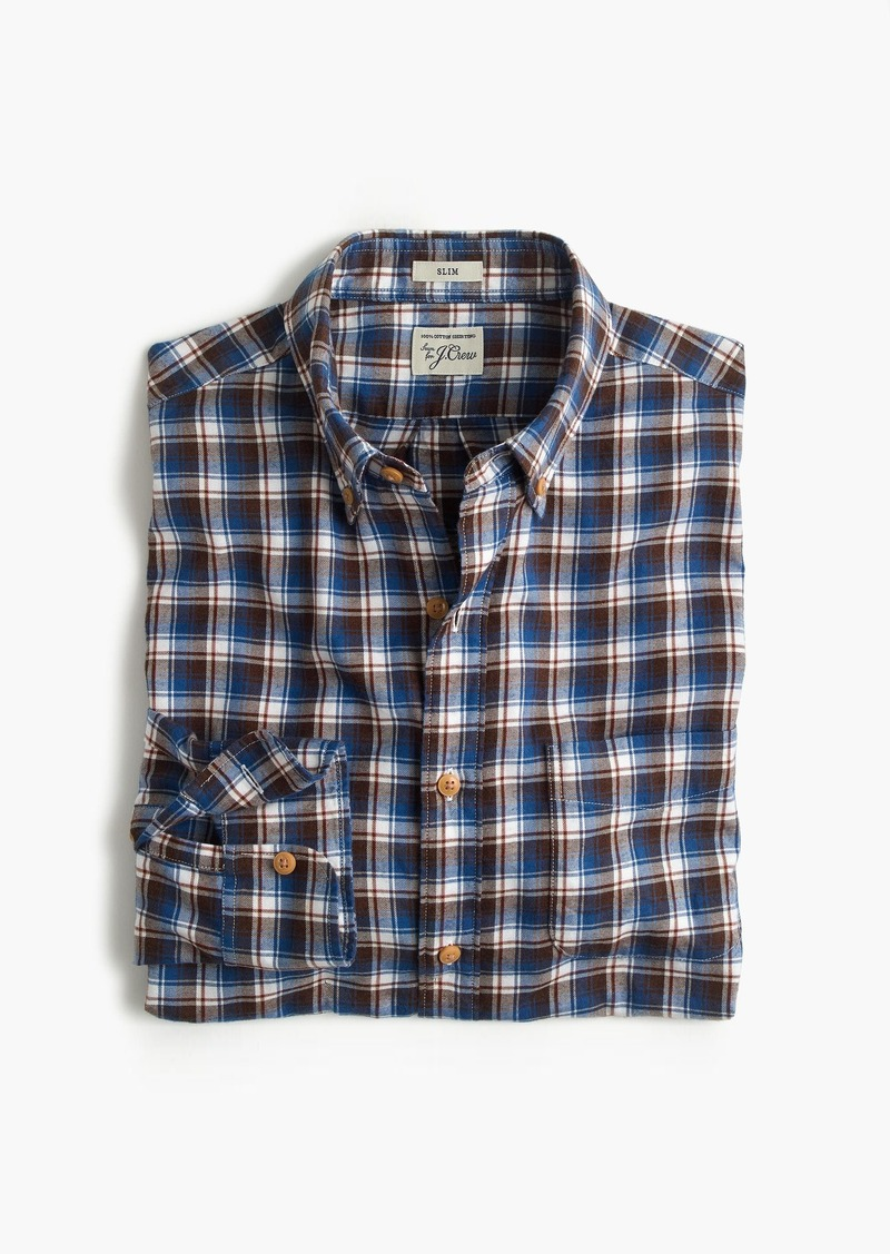 aef8d730e97a J.Crew Slim brushed flannel shirt in multicolor plaid Now  52.99