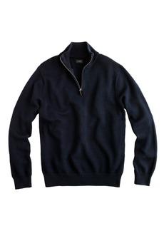 J.Crew Cotton-cashmere half-zip sweater