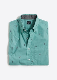 J.Crew Slim-fit short-sleeve printed shirt