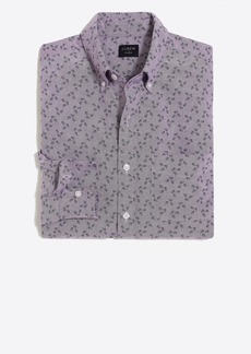 Slim flex oxford-printed shirt