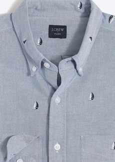 Slim flex printed oxford shirt