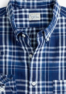 J.Crew Slim Indian madras shirt in blue plaid