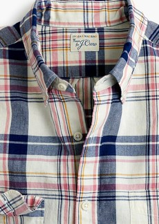 J.Crew Slim Indian madras shirt in indigo plaid