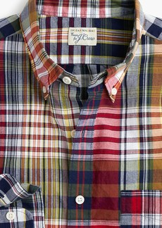 J.Crew Slim Indian madras shirt in mixed red plaid