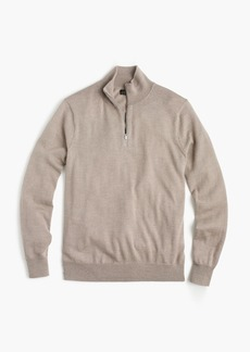 J.Crew Italian merino wool half-zip sweater
