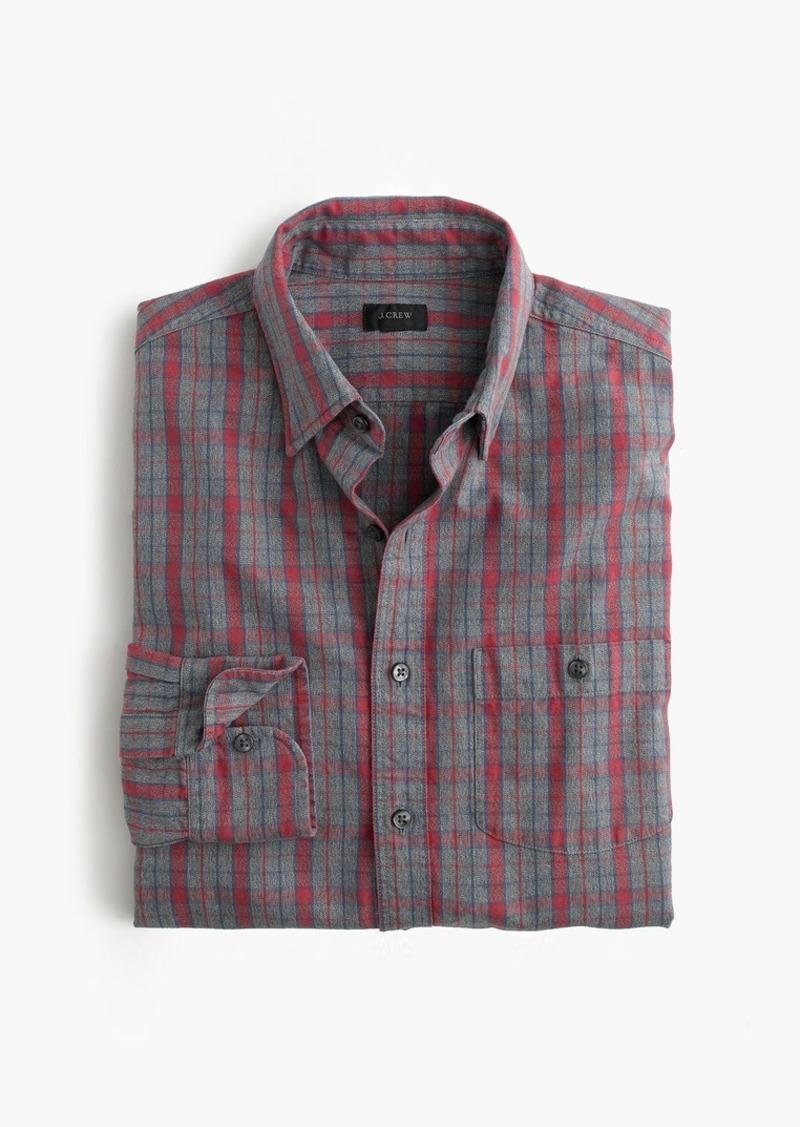J.Crew Jaspé cotton shirt in heather slate plaid