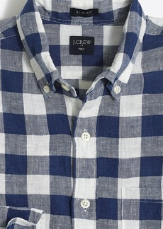 J.Crew Slim linen shirt in plaid