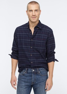 J.Crew Slim midweight flannel shirt in navy heather plaid