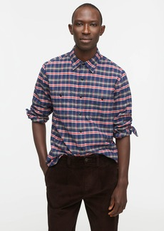 J.Crew Slim midweight flannel shirt in navy plaid