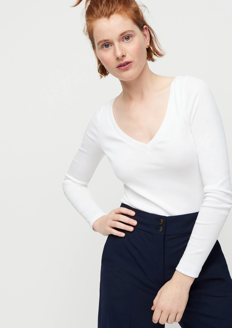 J.Crew Slim perfect long-sleeve V-neck T-shirt