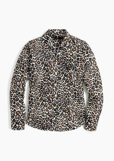 J.Crew Slim perfect shirt in leopard print linen-cotton