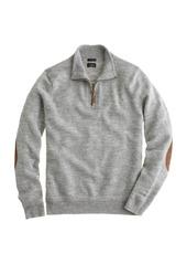 J.Crew Slim rustic merino elbow-patch half-zip sweater