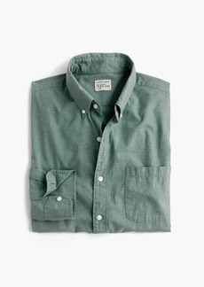 J.Crew Slim Secret Wash heather poplin shirt