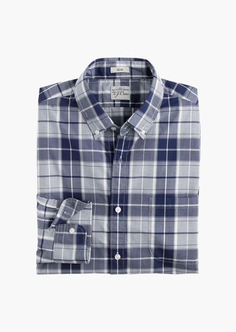 J.Crew Slim Secret Wash shirt in end-on-end imperial blue check