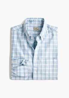 J.Crew Stretch Secret Wash shirt in light blue plaid