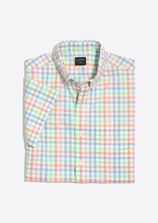 Slim short-sleeve flex washed shirt