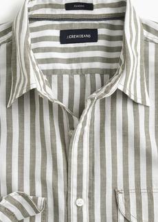 J.Crew Slim slub poplin cotton shirt in stripe