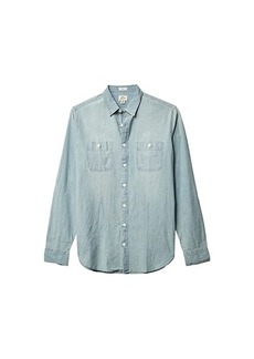 J.Crew Slim Stretch Chambray Workshirt in Organic Cotton