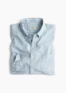 J.Crew Slim stretch Secret Wash shirt in blue heather poplin gingham