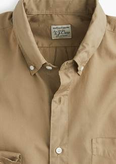 J.Crew Stretch Secret Wash shirt in garment-dyed solid poplin