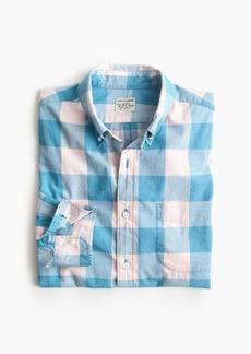J.Crew Slim stretch Secret Wash shirt in heather poplin buffalo plaid