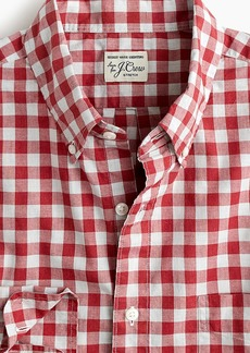 J.Crew Slim stretch Secret Wash shirt in heather poplin gingham