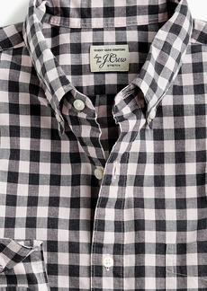 J.Crew Slim stretch Secret Wash shirt in heather poplin gingham