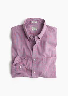 J.Crew Slim stretch Secret Wash shirt in ruby heather poplin gingham