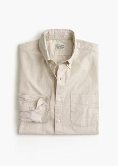 J.Crew Slim stretch Secret Wash shirt in solid heathered poplin