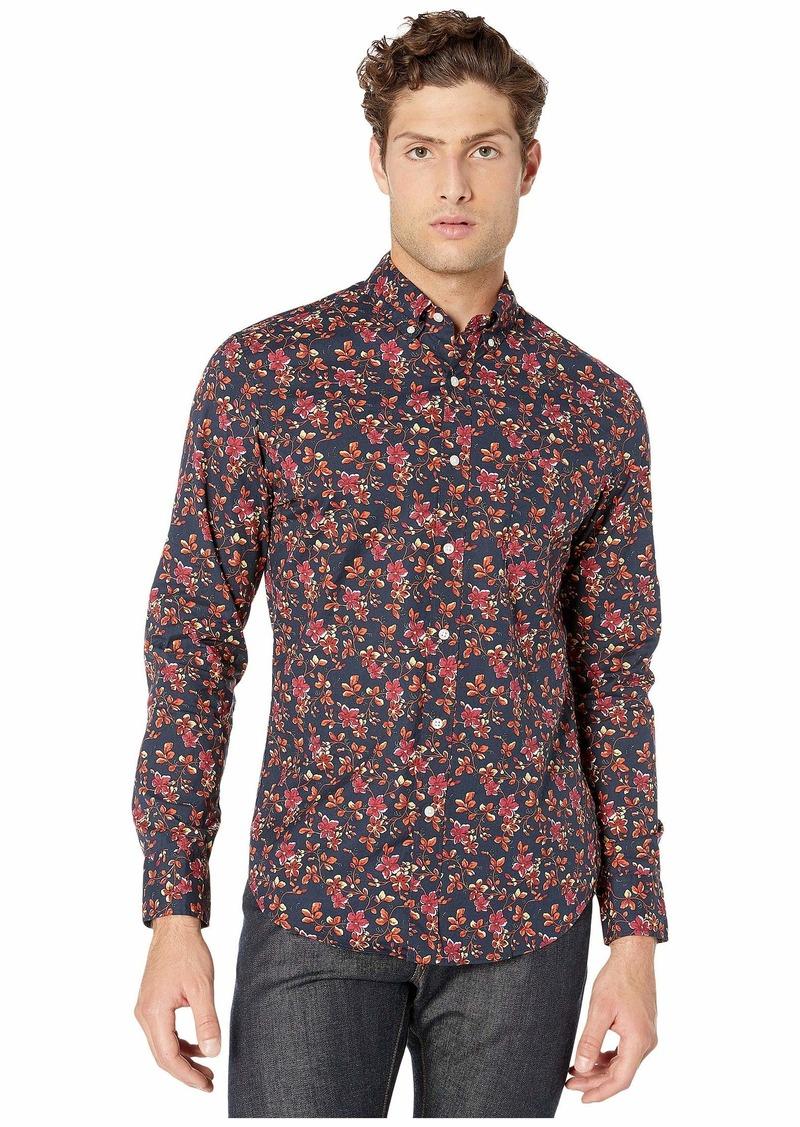 J.Crew Slim Stretch Secret Wash Shirt in Spring Floral Organic Cotton