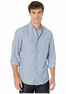J.Crew Slim Stretch Secret Wash Shirt in Striped Organic Cotton