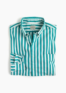 J.Crew Slim stretch Secret Wash shirt in turquoise stripe