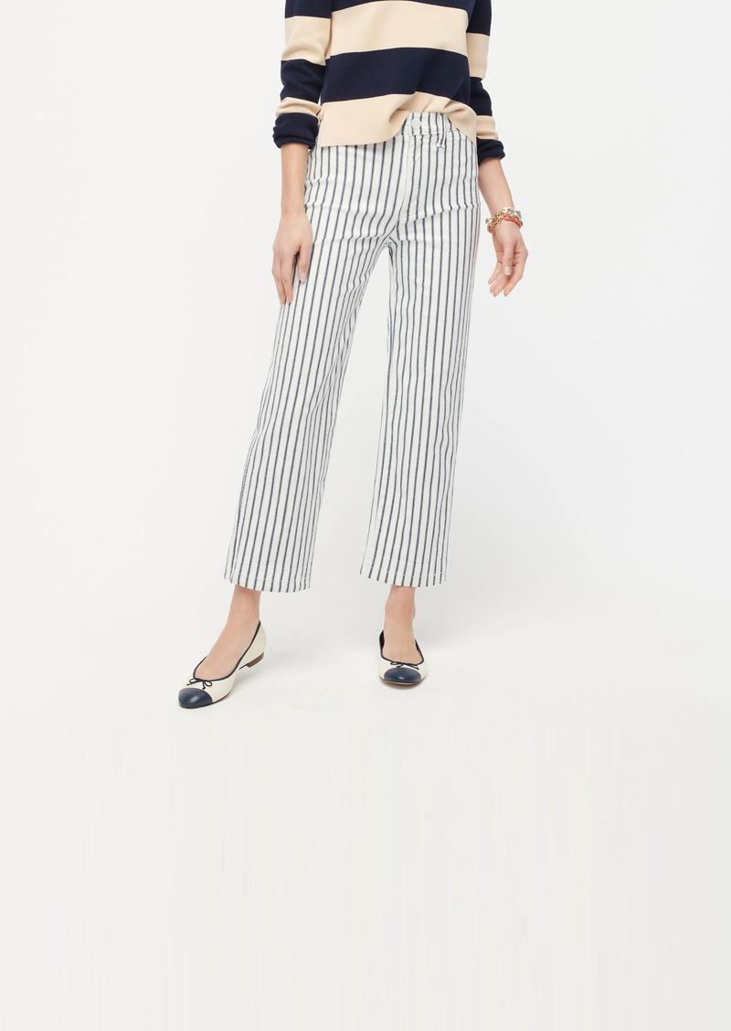 J.Crew Slim wide-leg jean in stripe