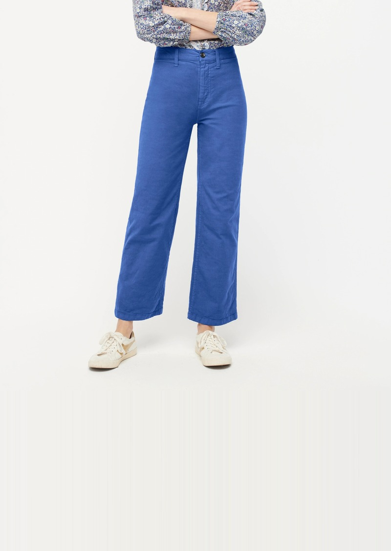 J.Crew Slim wide-leg pant in washed canvas