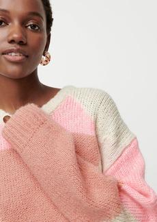 J.Crew Slouchy colorblock tunic sweater