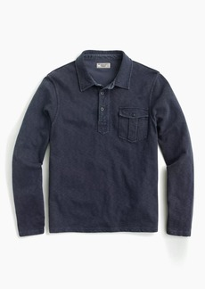Slub french terry popover shirt
