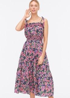 J.Crew Smocked dress in watermark floral print