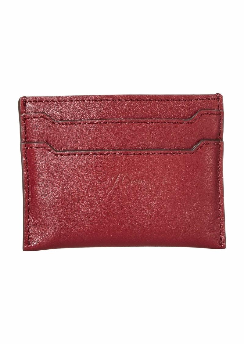 J.Crew Smooth Leather Slip Card Case