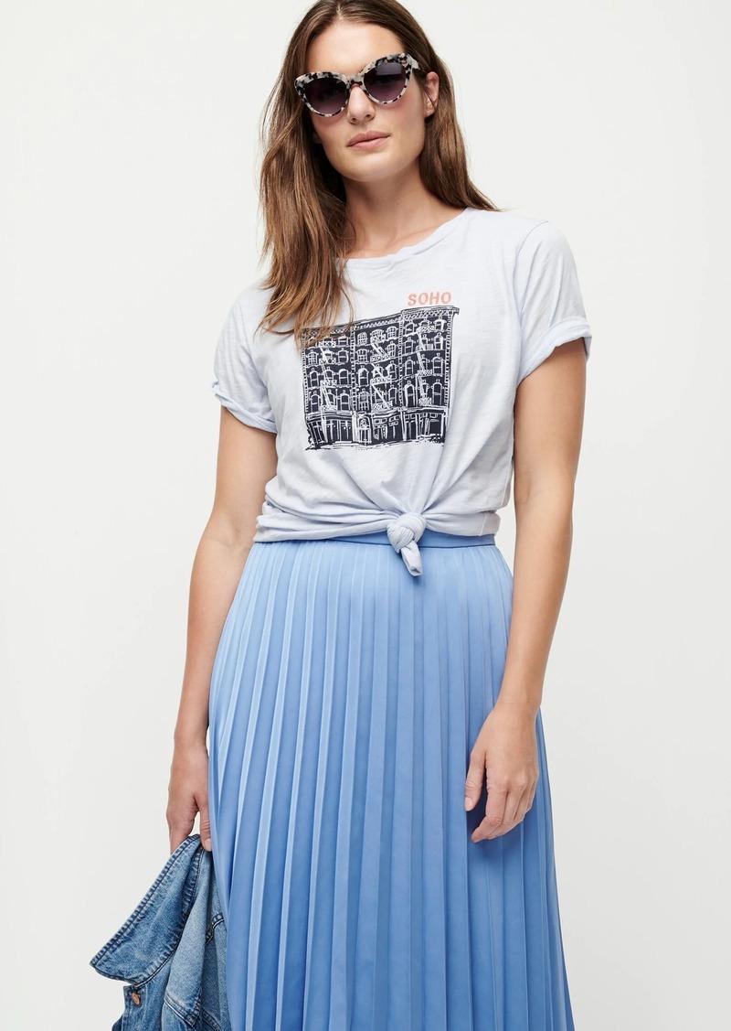 """J.Crew """"Soho"""" T-shirt in slub cotton"""