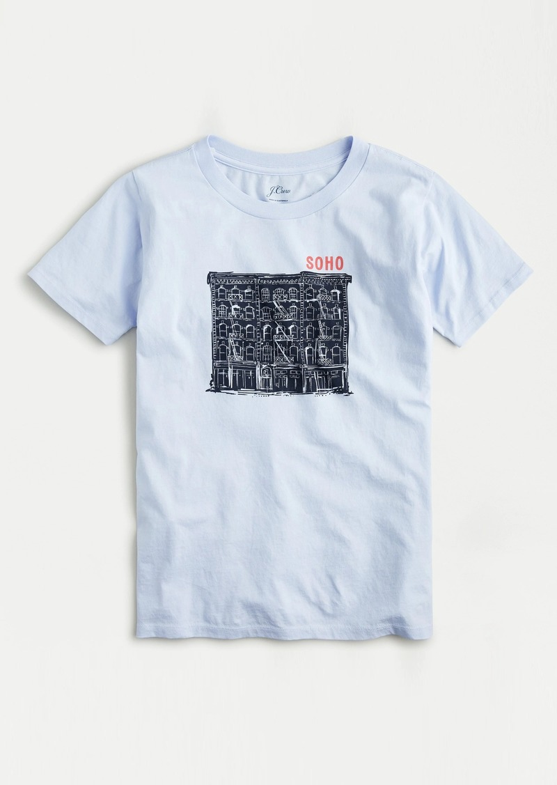 "J.Crew ""Soho"" T-shirt in slub cotton"