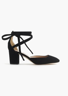 Sophia ankle-wrap pumps in suede