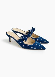 Sophia mules (55mm) in starry suede