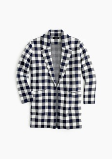 J.Crew Sophie open-front sweater-blazer in gingham