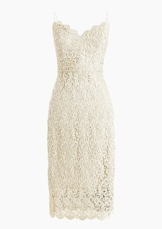 J.Crew Spaghetti-strap dress in guipure lace