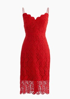J.Crew Spaghetti-strap dress in guipure lace