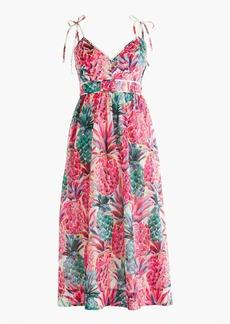 Tall spaghetti-strap dress in Ratti® painted pineapple