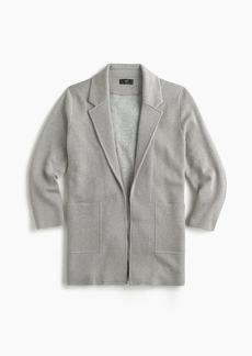 J.Crew Sparkly Sophie open-front sweater blazer
