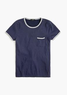 J.Crew Speckled contrast slub cotton ringer T-shirt